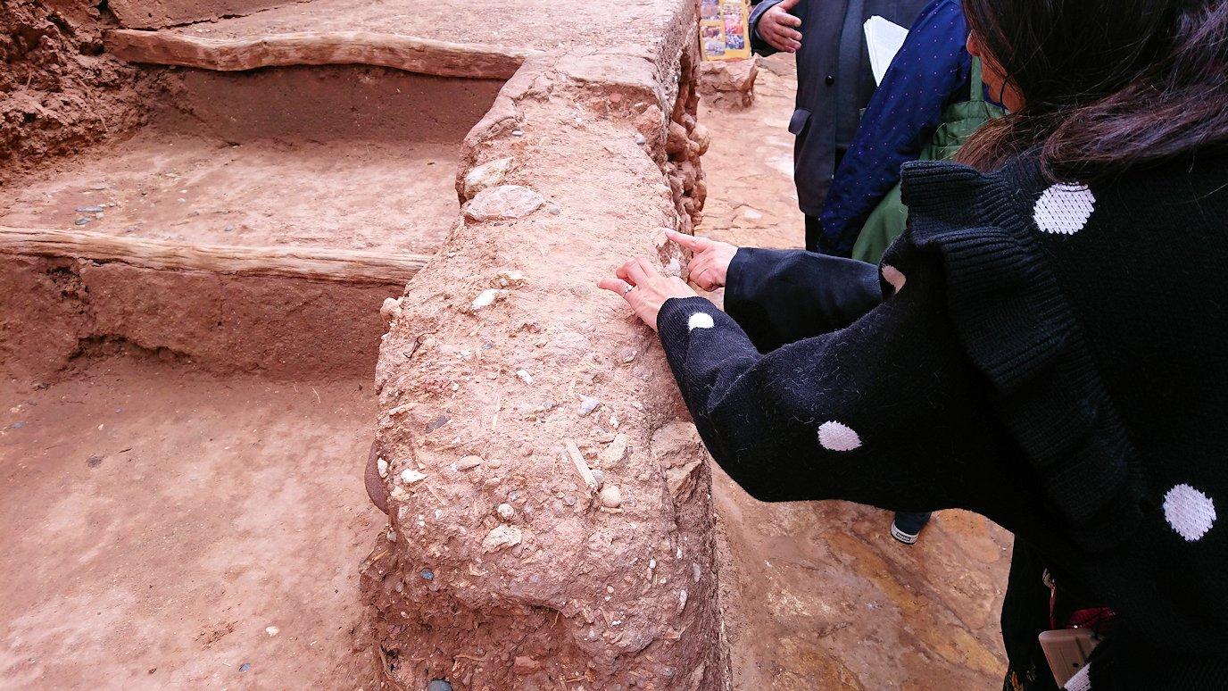 モロッコのワルザザートのアイト・ベン・ハッドゥ内の様子3