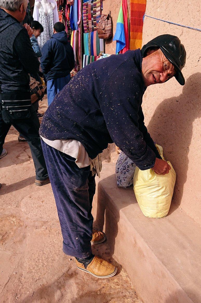 モロッコのワルザザートのアイト・ベン・ハッドゥ内の様子7