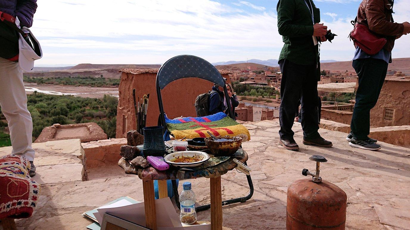モロッコのワルザザートのアイト・ベン・ハッドゥ内を上の方まで登って見えた景色9