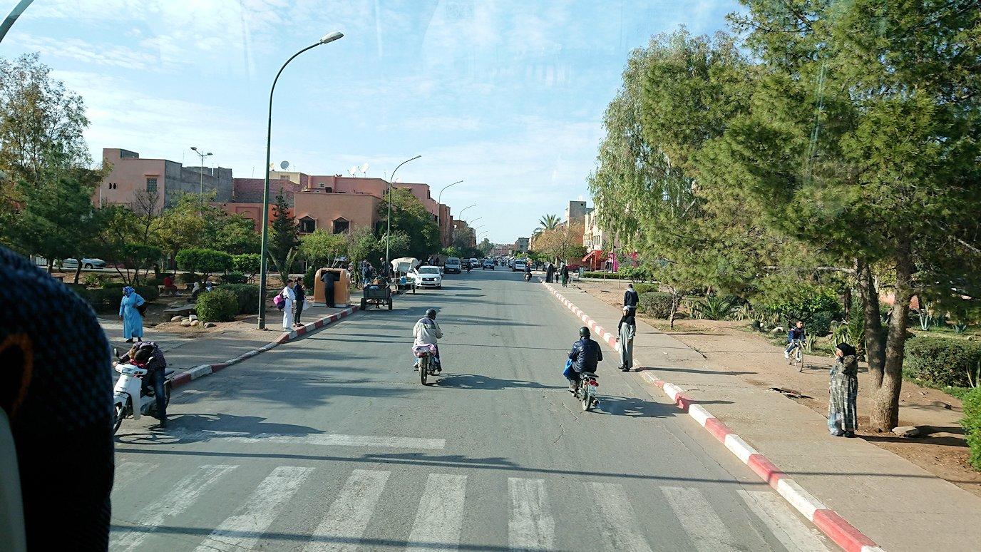 モロッコのマラケシュの街に到着
