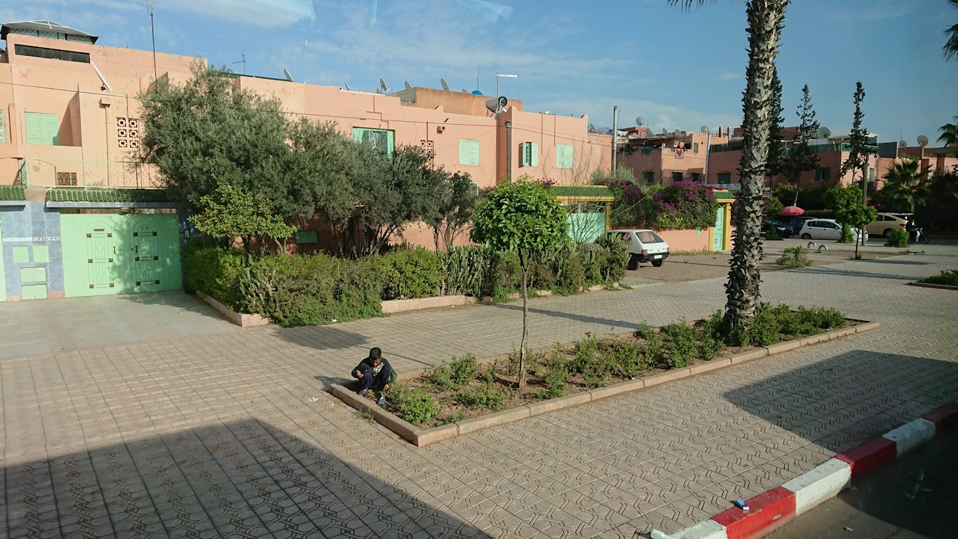 モロッコのマラケシュの街に到着3