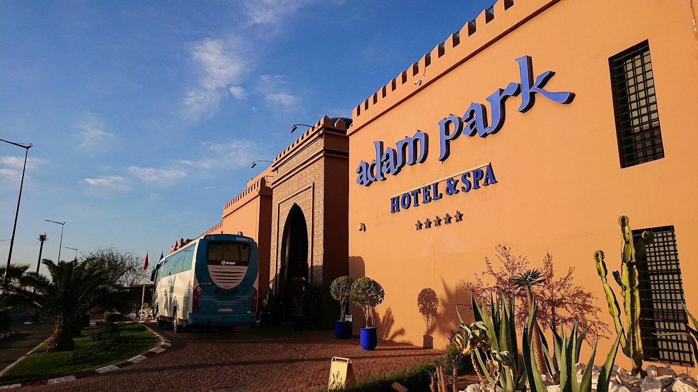 モロッコのマラケシュのホテルにて