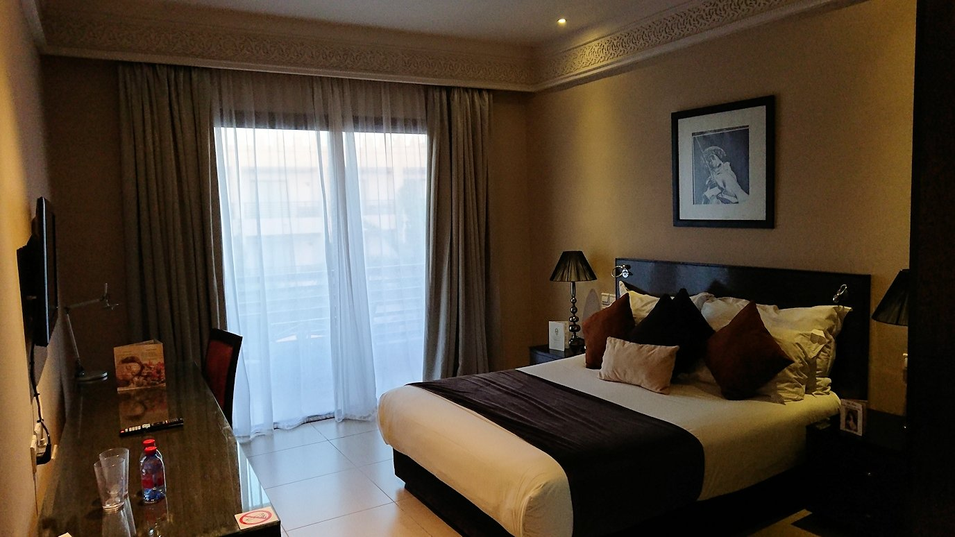 モロッコのマラケシュのホテルの部屋の様子