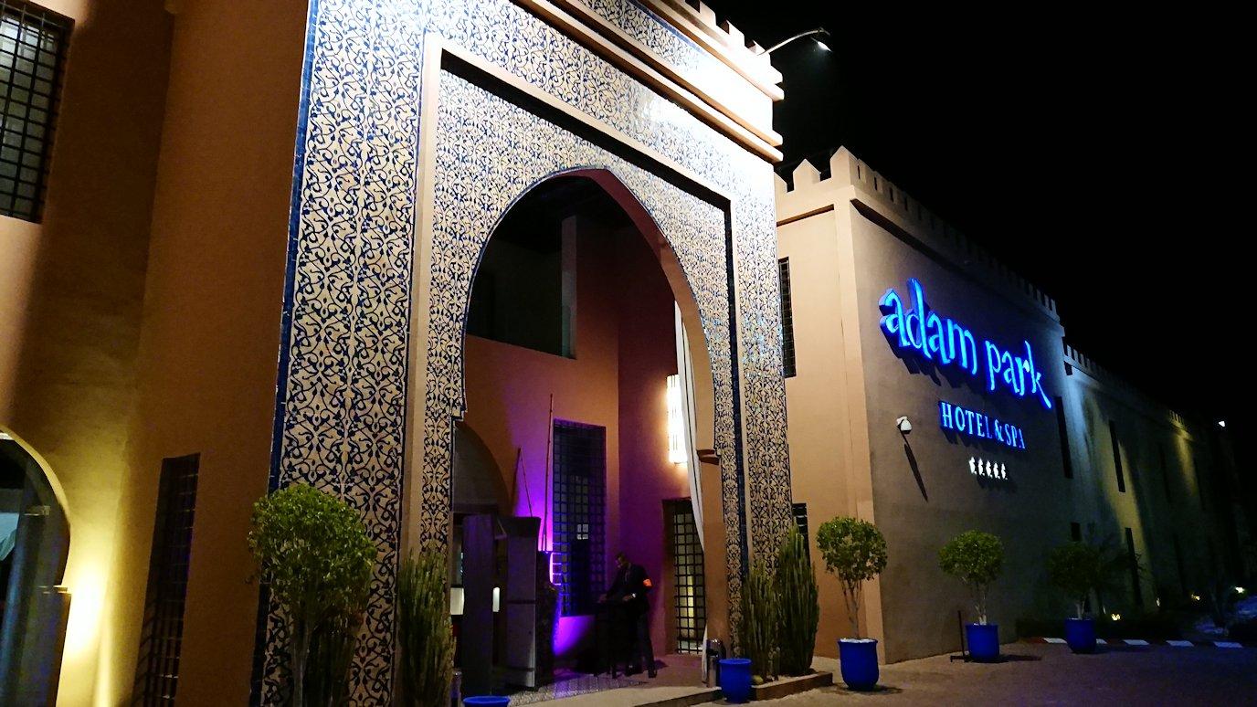 モロッコのマラケシュのホテルの夜の様子3
