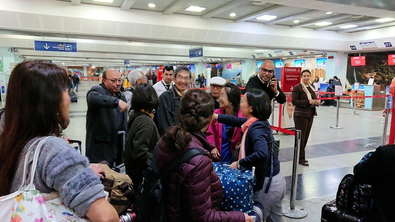 モロッコのカサブランカ空港でチェックイン4