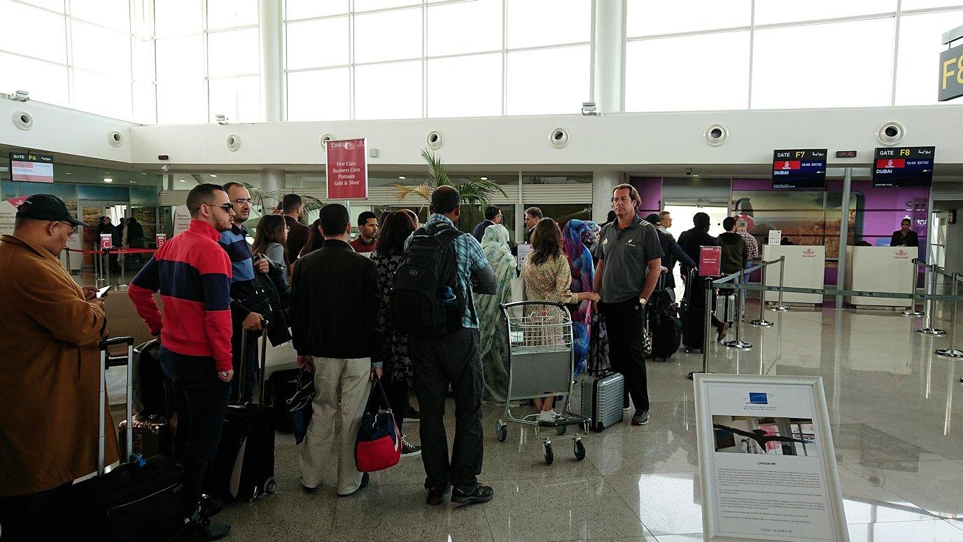 モロッコのカサブランカ空港をそろそろ出発します4
