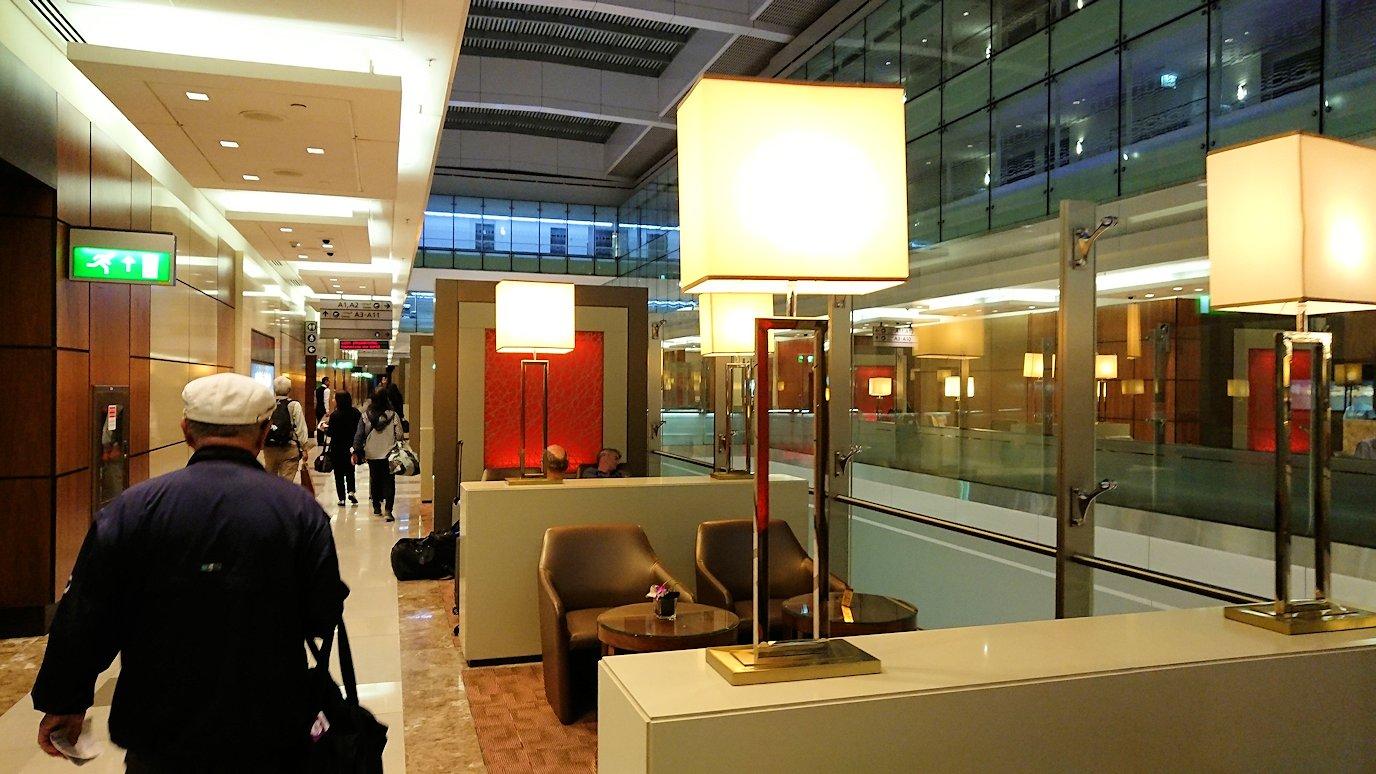 ドバイ国際空港に到着し待望のビジネスクラス・ラウンジに入った様子5