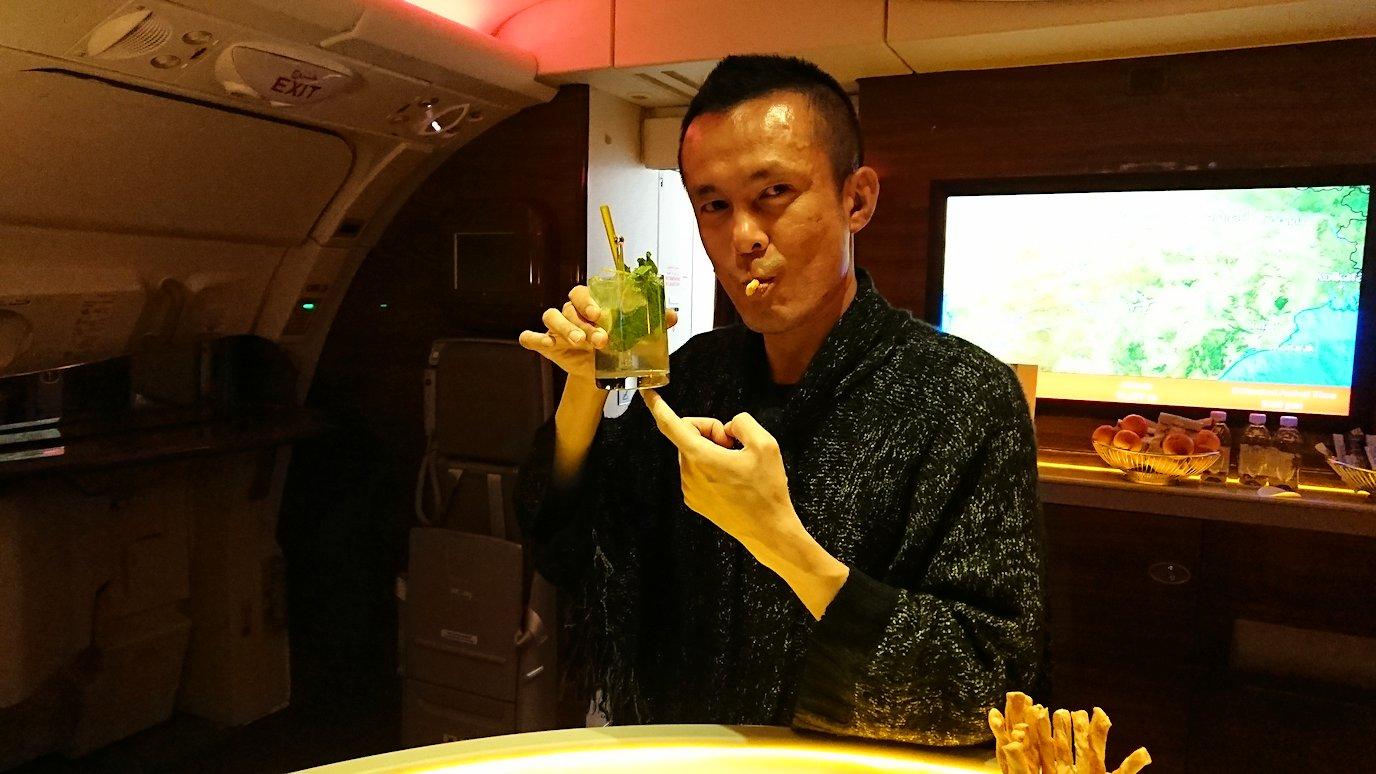 ドバイ国際空港から関西国際空港に向けて飛んでいる飛行機の機内から8