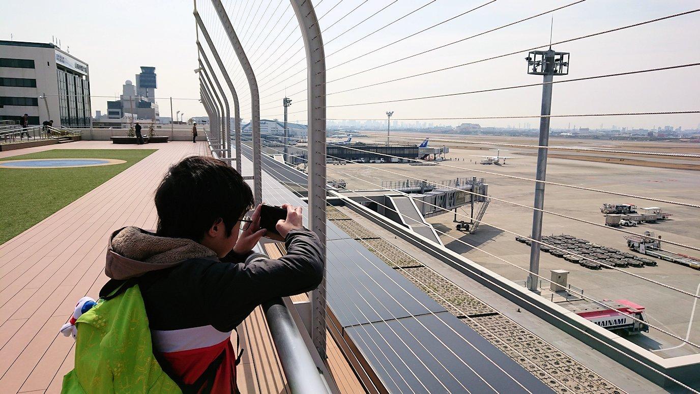 函館空港に伊丹空港でまずはチェックイン手続きを7