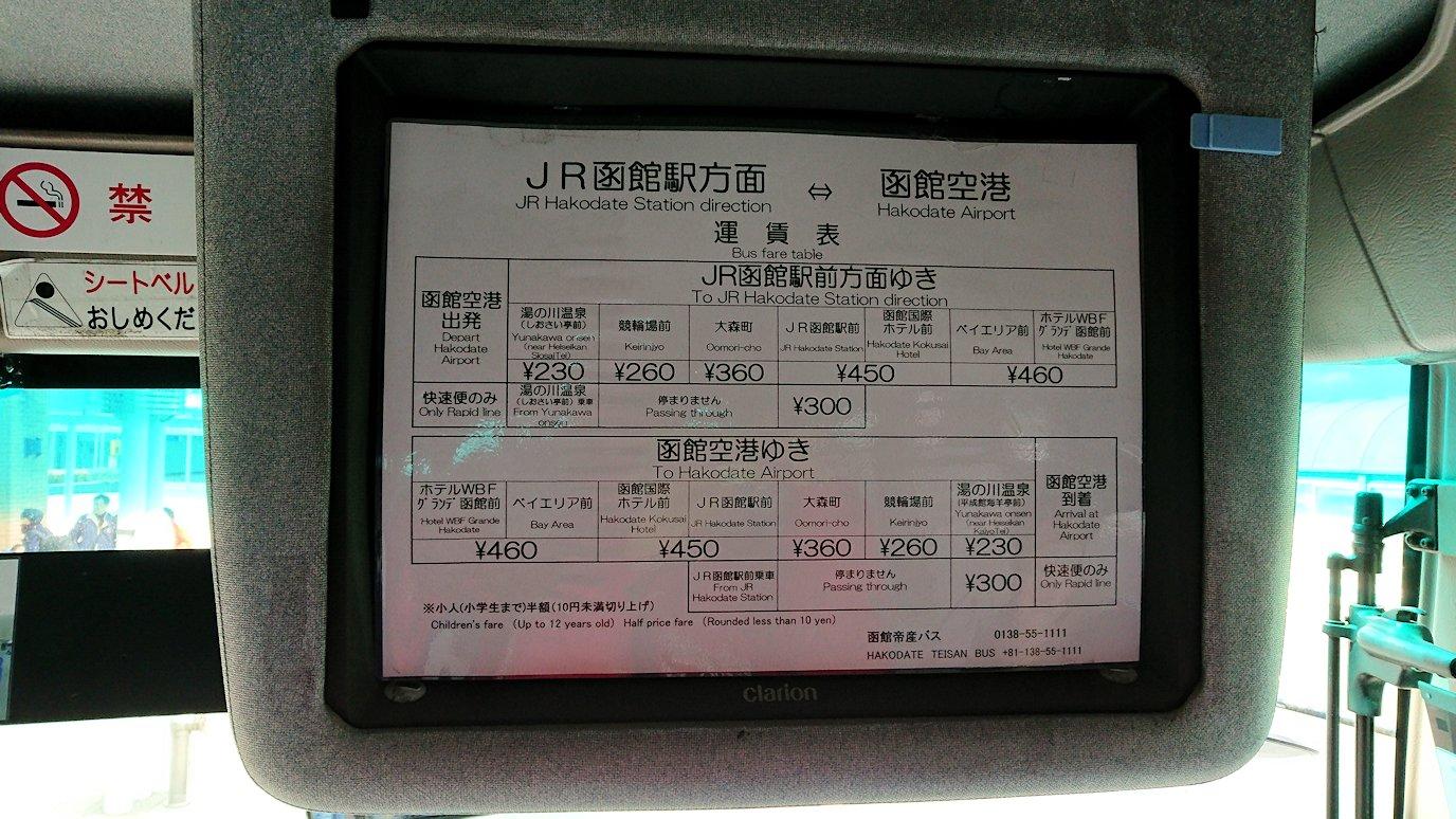 函館空港から市内にあるホテルまでバスで移動3