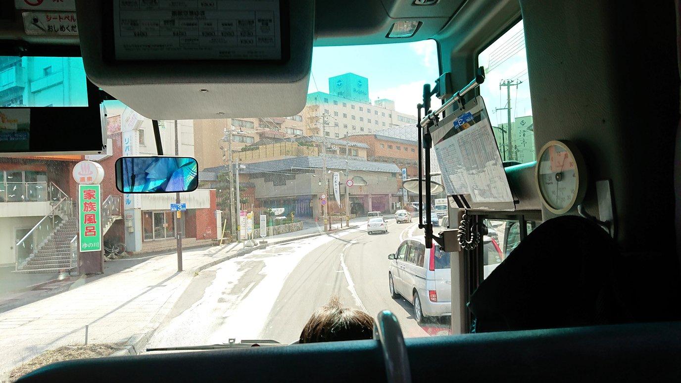 函館空港から市内にあるホテルまでバスで移動7