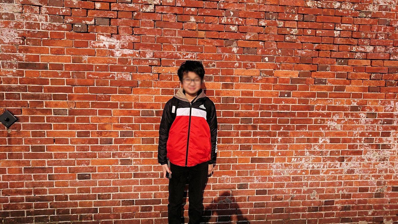 函館空港から市内にある「天然温泉 ホテルパコ函館別亭」に到着しその部屋を確認後、函館市内の赤レンガ倉庫を見て回る6