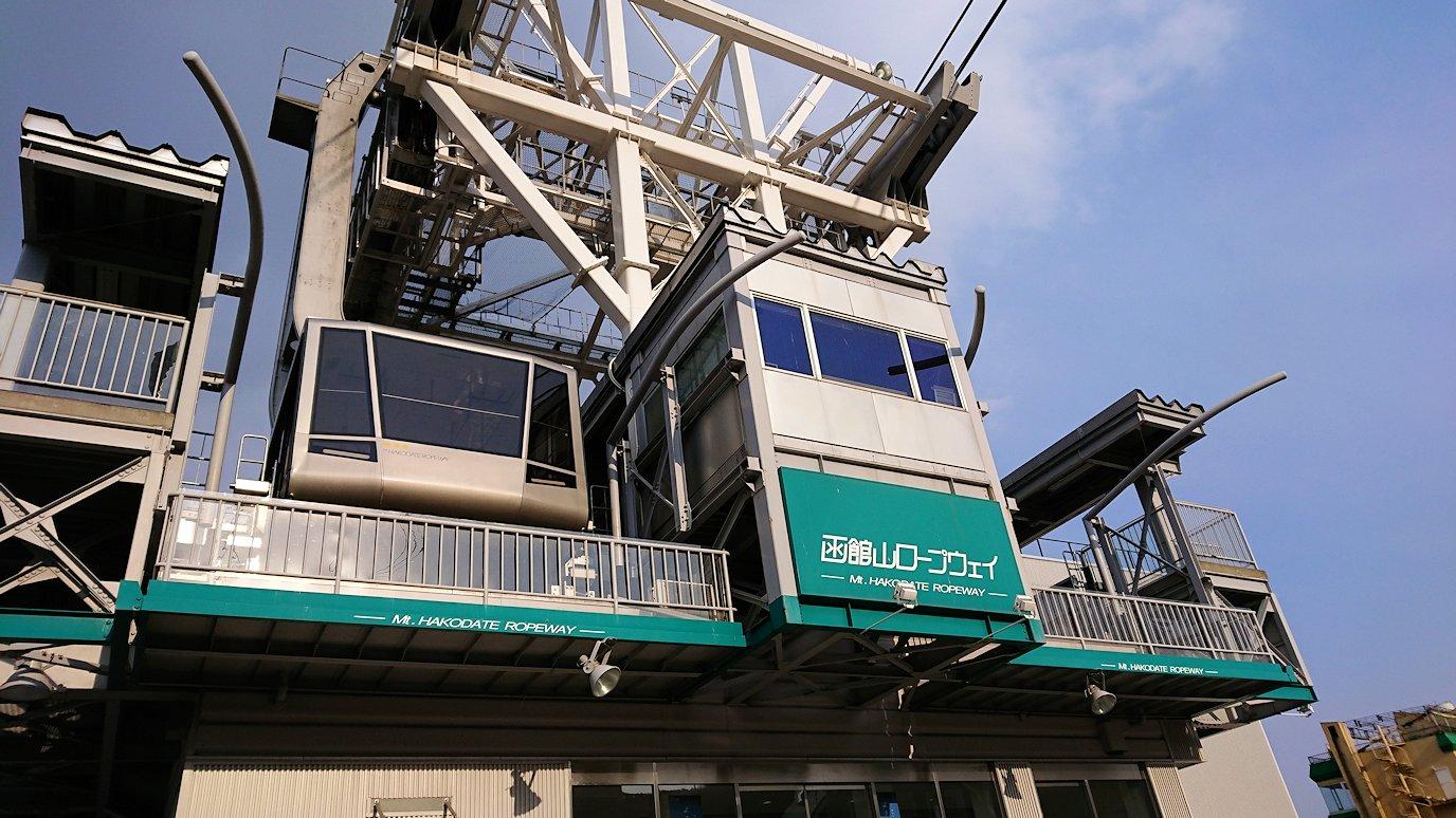 函館市内の函館山ロープウェイ乗り場に到着1