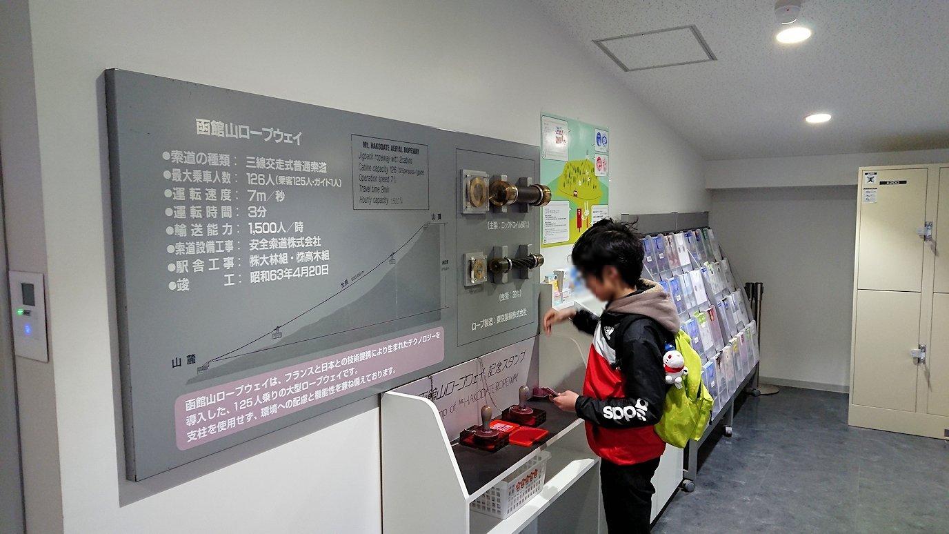 函館市内の函館山ロープウェイ乗り場に到着5