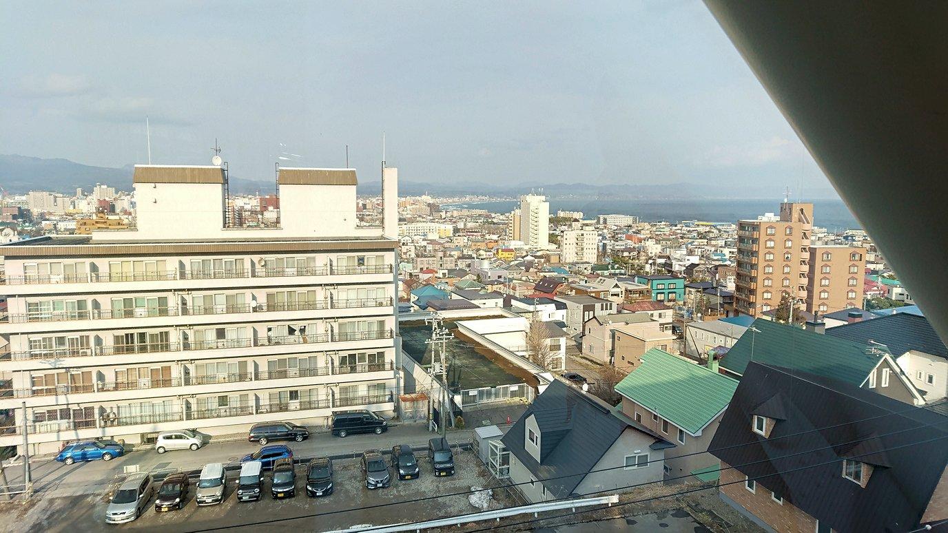 函館市内の函館山ロープウェイ乗り場に到着9