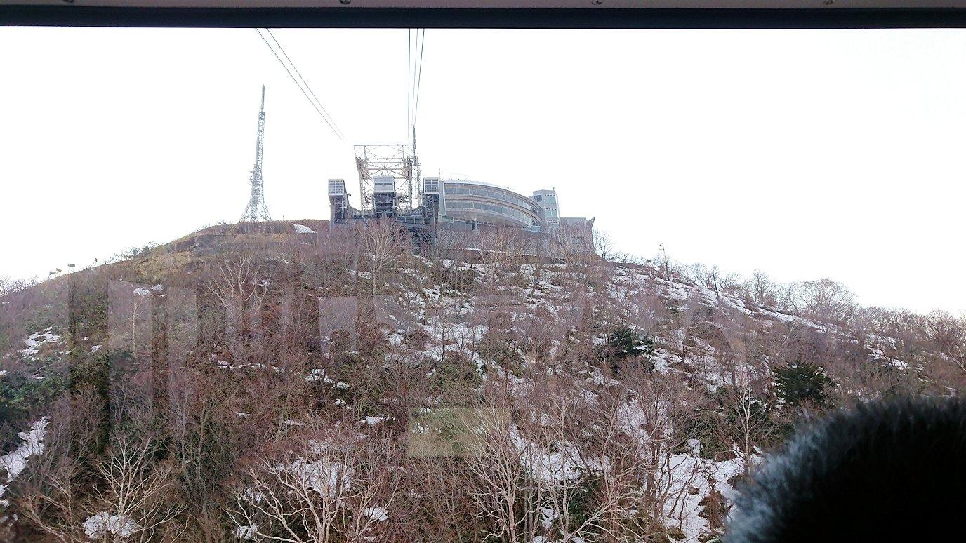 函館市内の函館山ロープウェイで頂上に到着!1