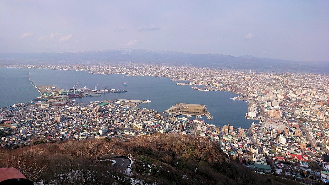 函館市内の函館山ロープウェイで頂上に到着!6