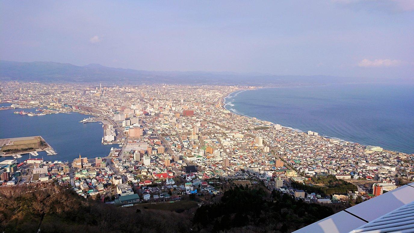 函館市内の函館山ロープウェイで頂上に到着!7