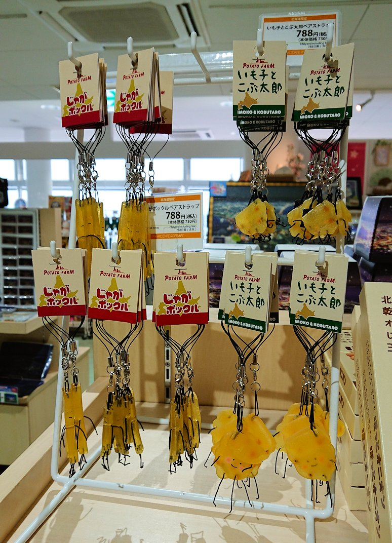 函館市内の函館山ロープウェイで頂上に到着しお土産物を物色5