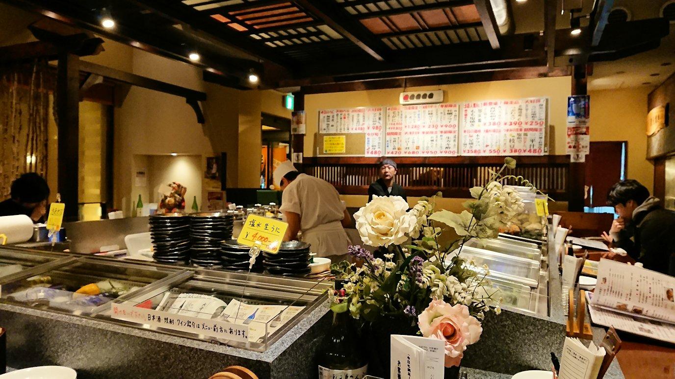 函館市内の金森赤レンガ倉庫辺りで晩御飯を食べる1