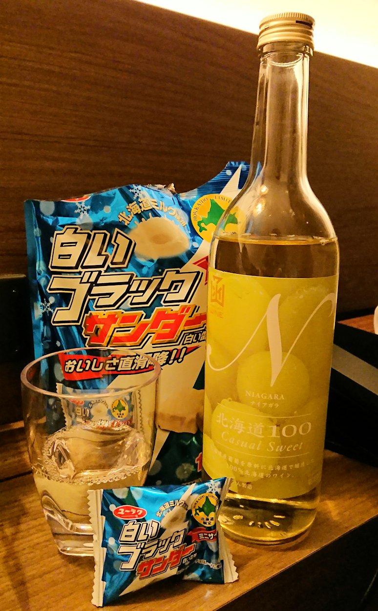 函館市内の金森赤レンガ倉庫辺りで晩御飯を食べて函館駅に到着4