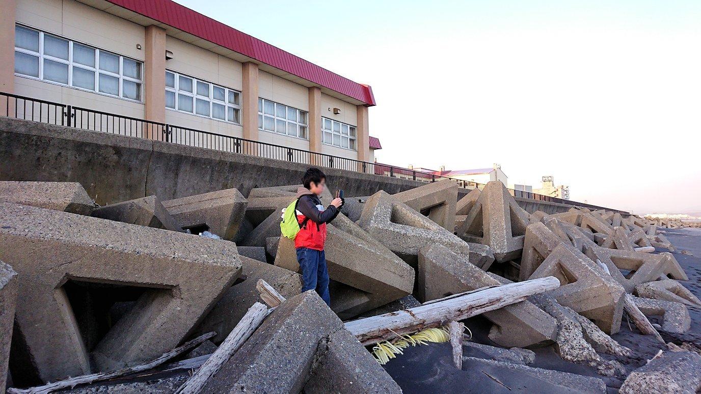 函館市内で五稜郭の見学を終えてホテル周辺で海を眺める7