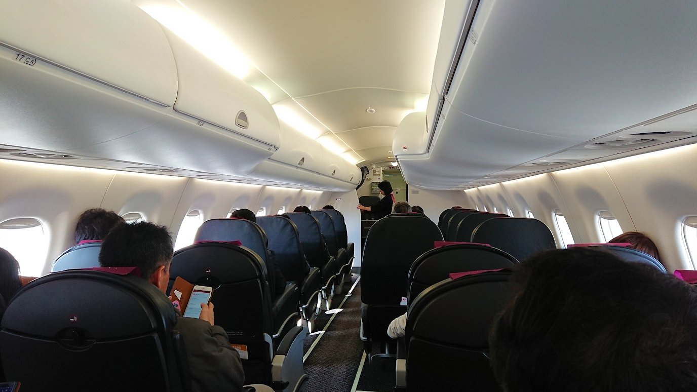 函館空港からJALの飛行機に乗って大阪に帰ります