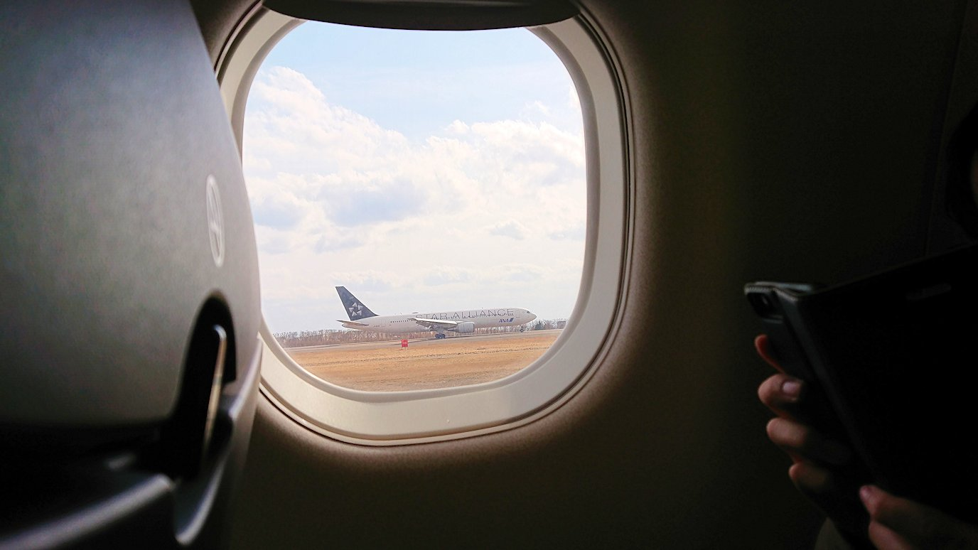 函館空港からJALの飛行機に乗って大阪に帰ります2