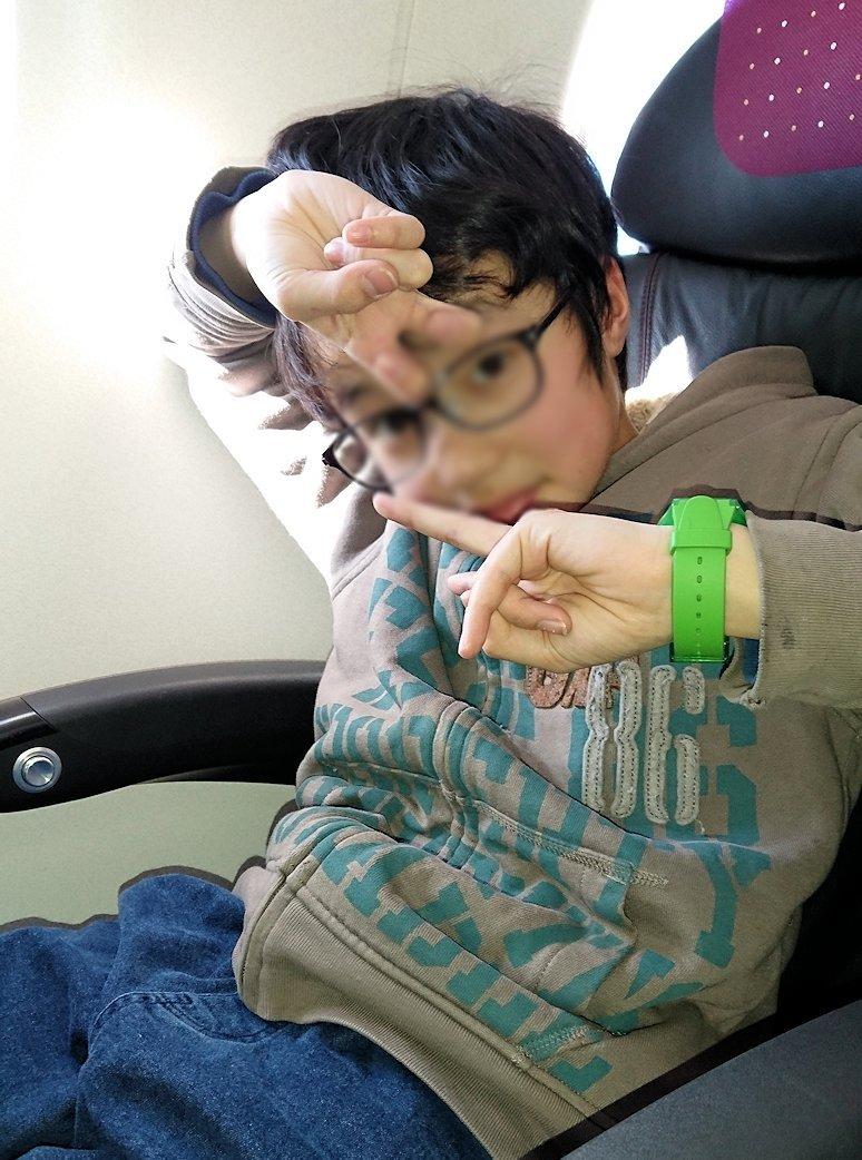 函館空港からJALの飛行機に乗って大阪に帰る途中2