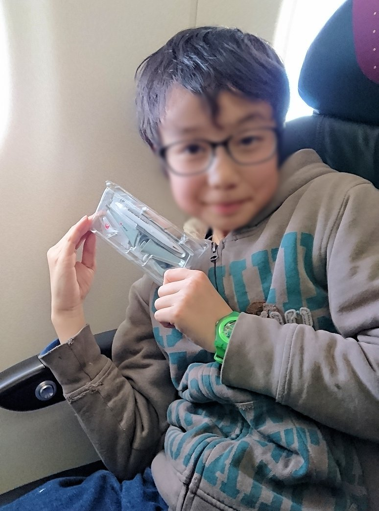 函館空港からJALの飛行機に乗って大阪に帰る途中1