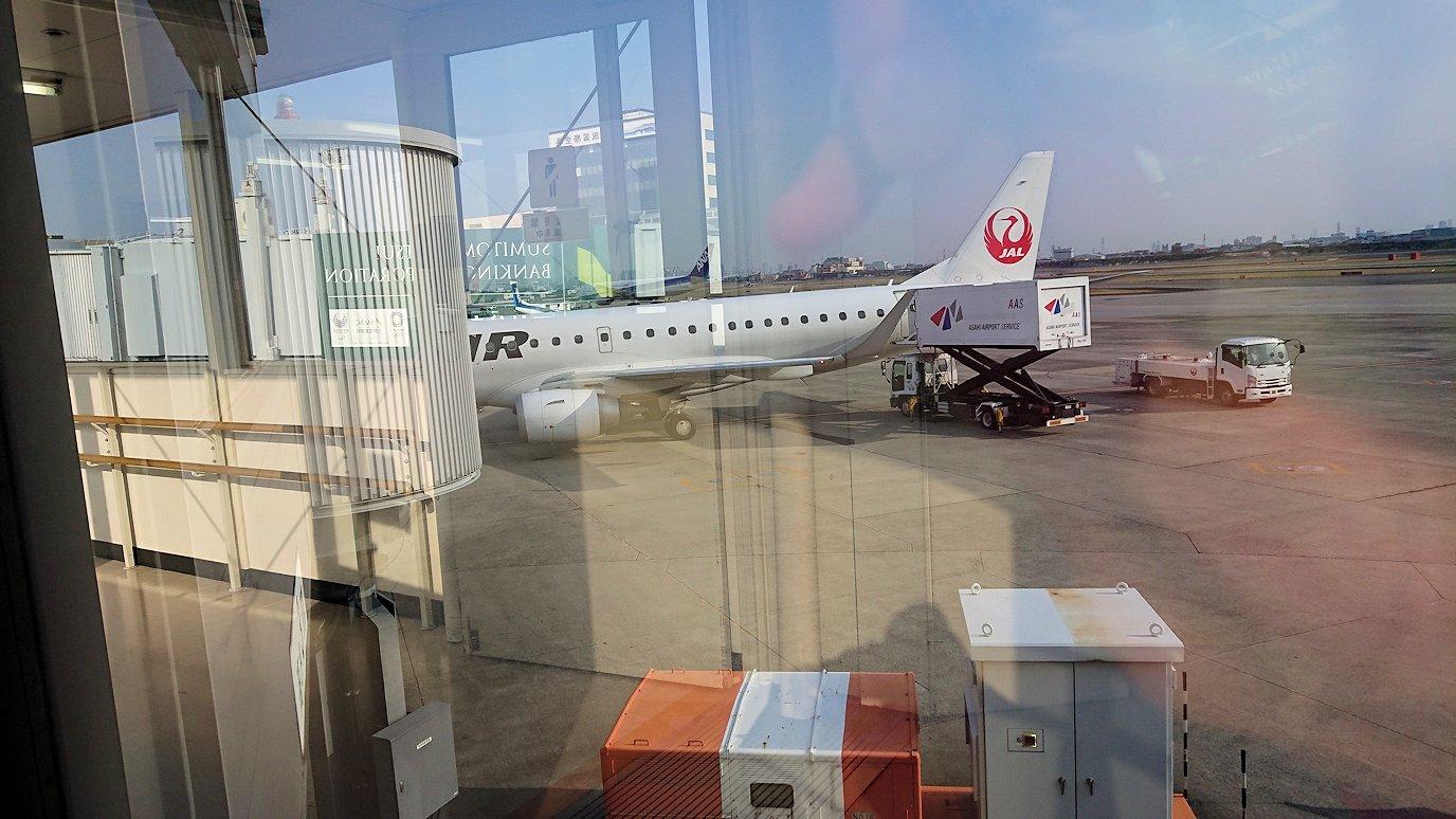 函館空港からJALの飛行機に乗って大阪に帰ります10
