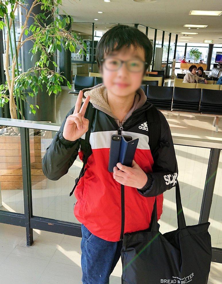 函館空港からJALの飛行機に乗って大阪に帰る途中4