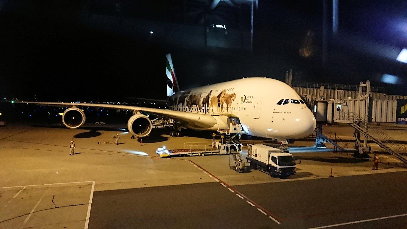 関西国際空港をチュニジアに向けて出発2