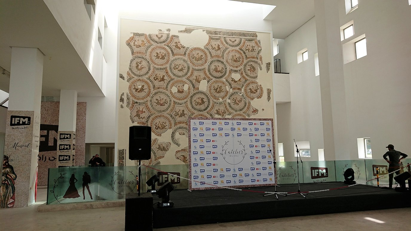 チュニス国際空港を出てバルドー博物館に到着2
