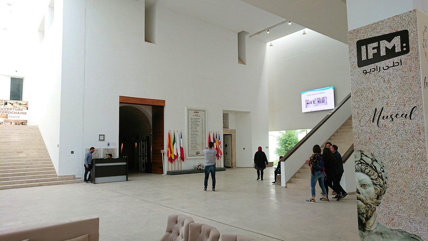 チュニス国際空港を出てバルドー博物館に到着3