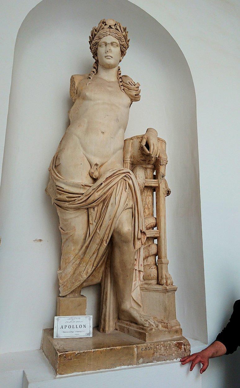 チュニスのバルドー博物館でキレイな内装に見とれる1