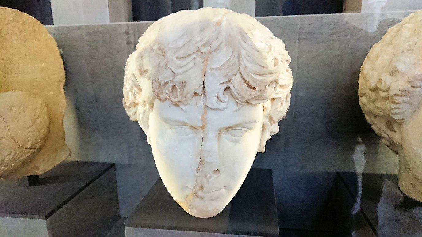 チュニスのバルドー博物館で展示されている像を見る9