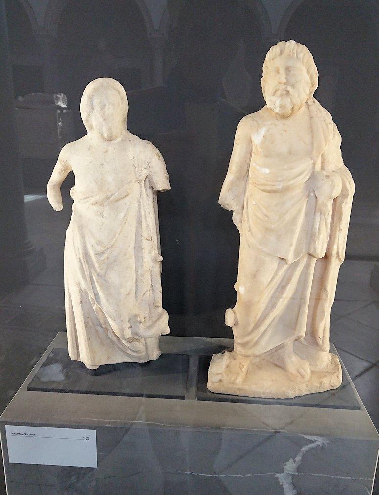 チュニスのバルドー博物館で展示されている像を見ながら散策7