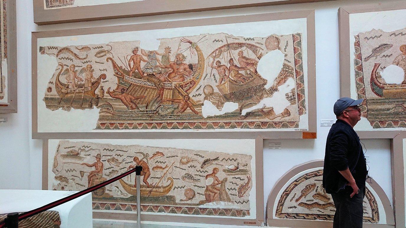 チュニスのバルドー博物館でオデュッセウスの間を見学5