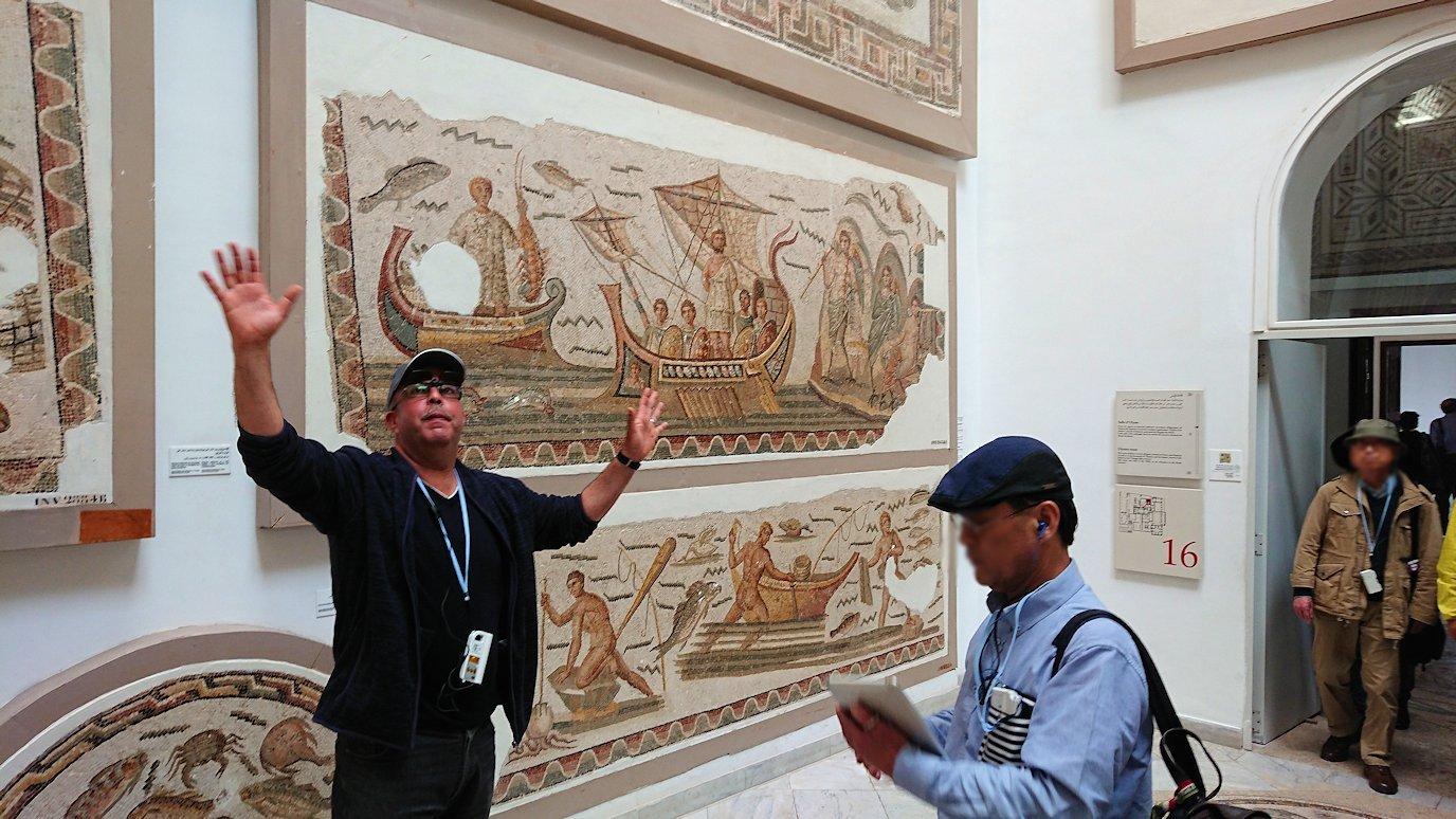チュニスのバルドー博物館でオデュッセウスの間を見学6