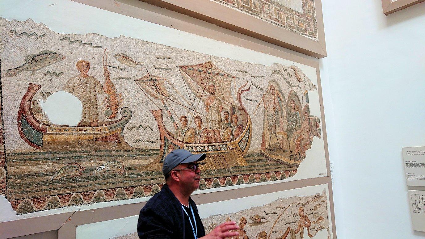 チュニスのバルドー博物館でオデュッセウスの間を見学