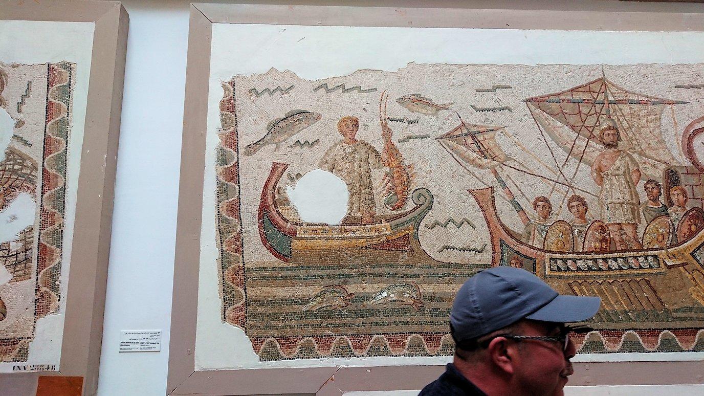 チュニスのバルドー博物館でオデュッセウスの間を見学2