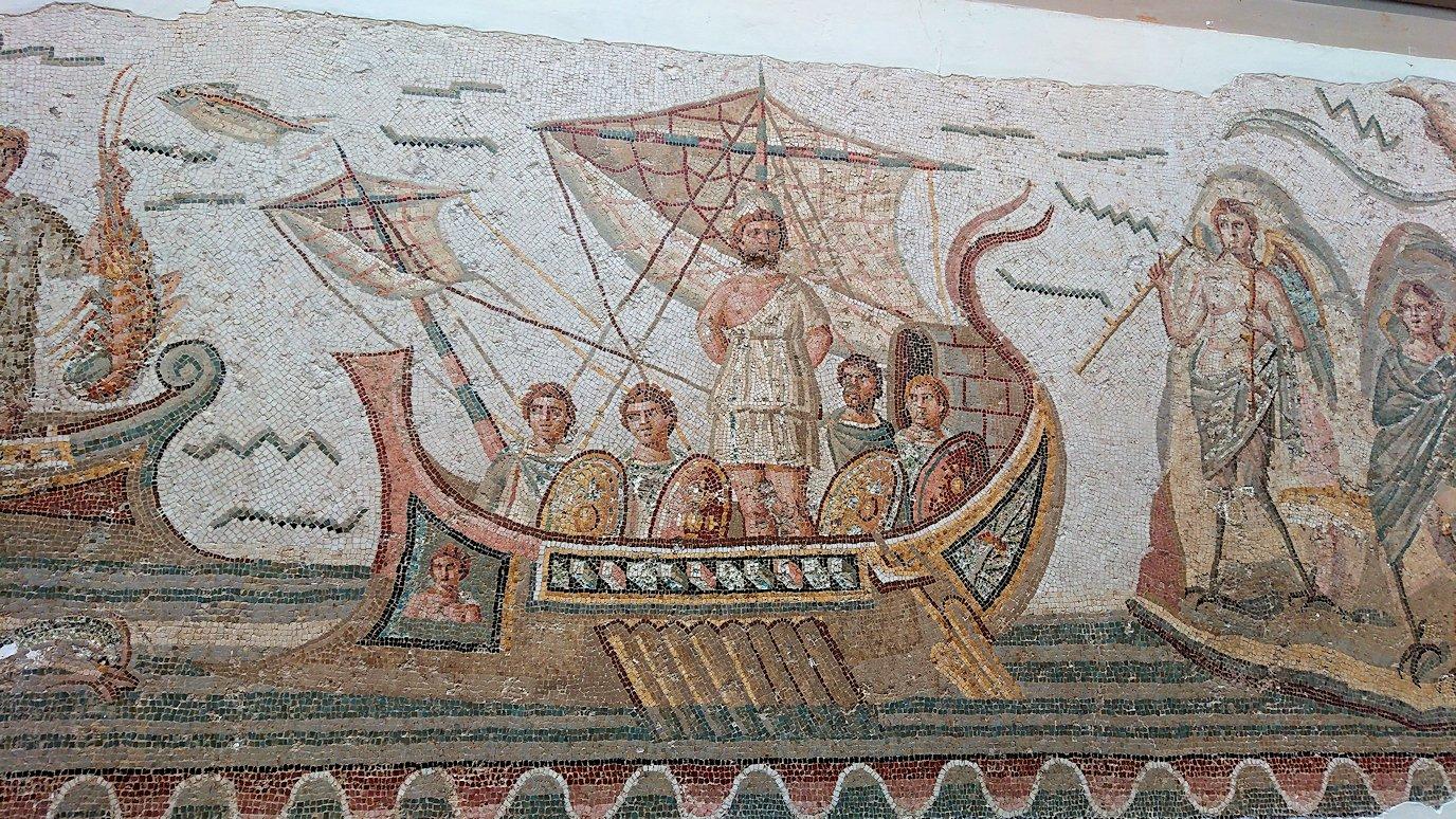 チュニスのバルドー博物館でオデュッセウスの間を見学3