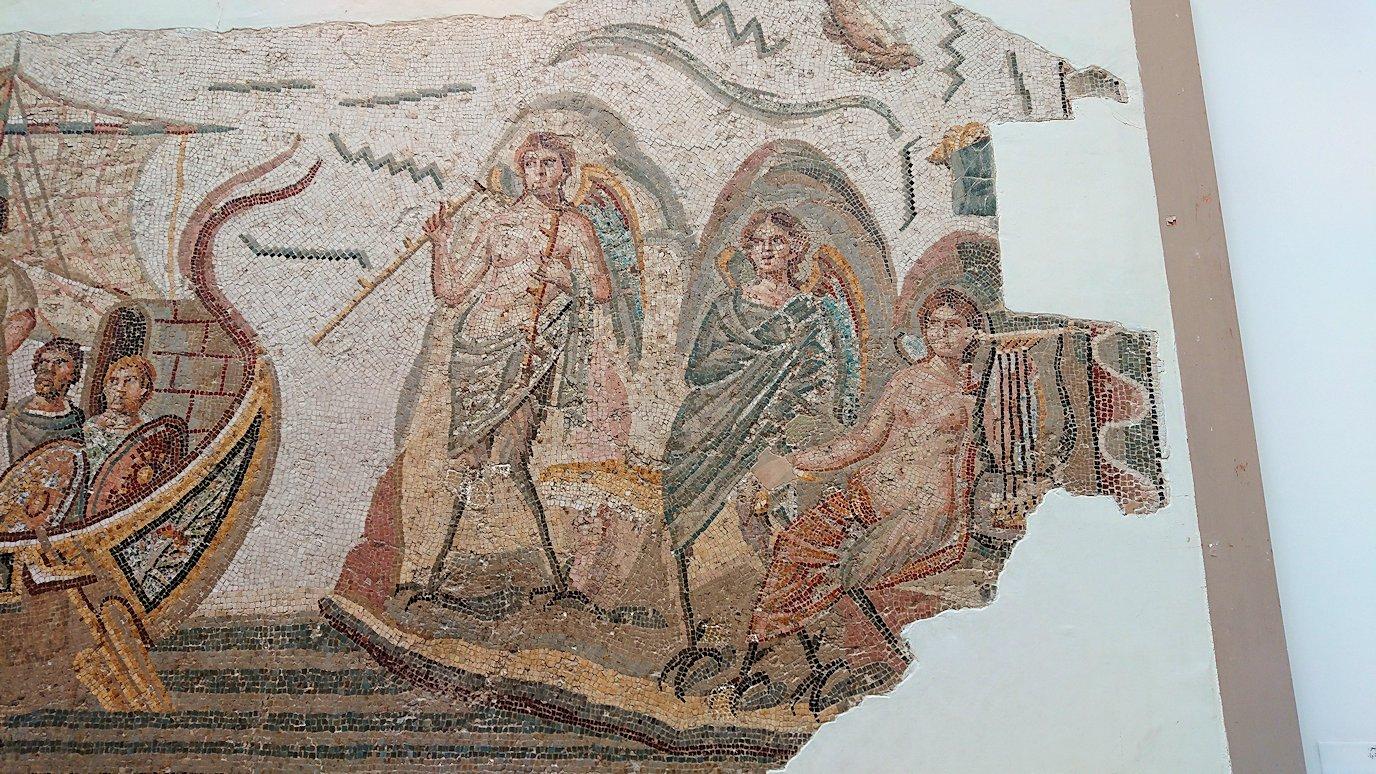 チュニスのバルドー博物館でオデュッセウスの間を見学4