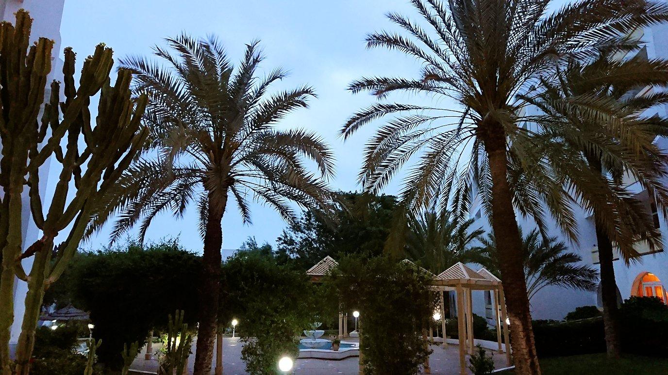 チュニジアのスースの街にある「マルハバ ロイヤル サレム」ホテルで朝日を迎える