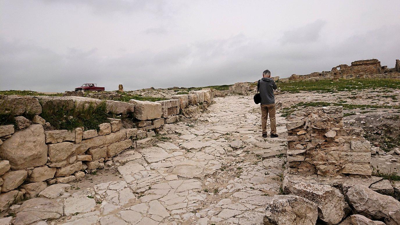 チュニジアのドゥッガ遺跡で奥に進みます2