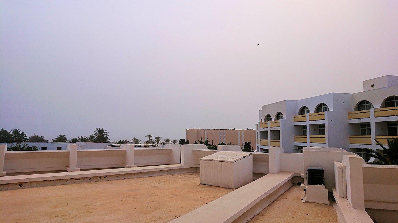 チュニジア:スースのホテルで朝日を楽しみにホテル内を散策1