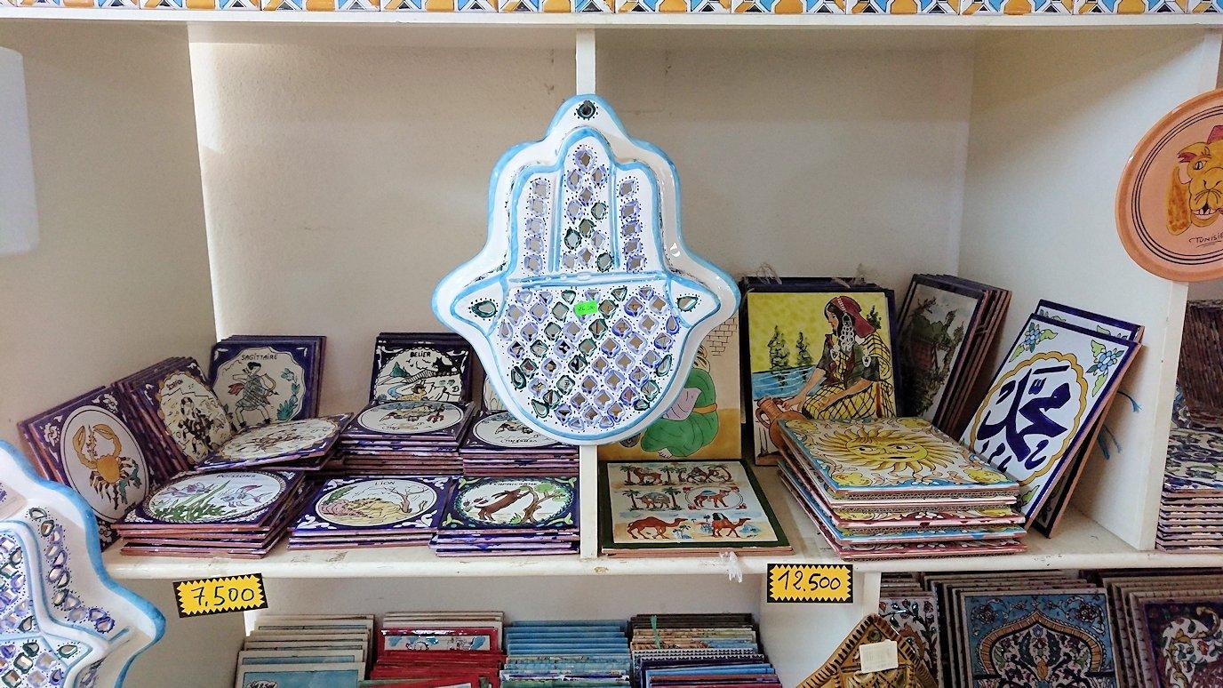 チュニジア:ナブールの街の陶器屋さんの店内の様子4