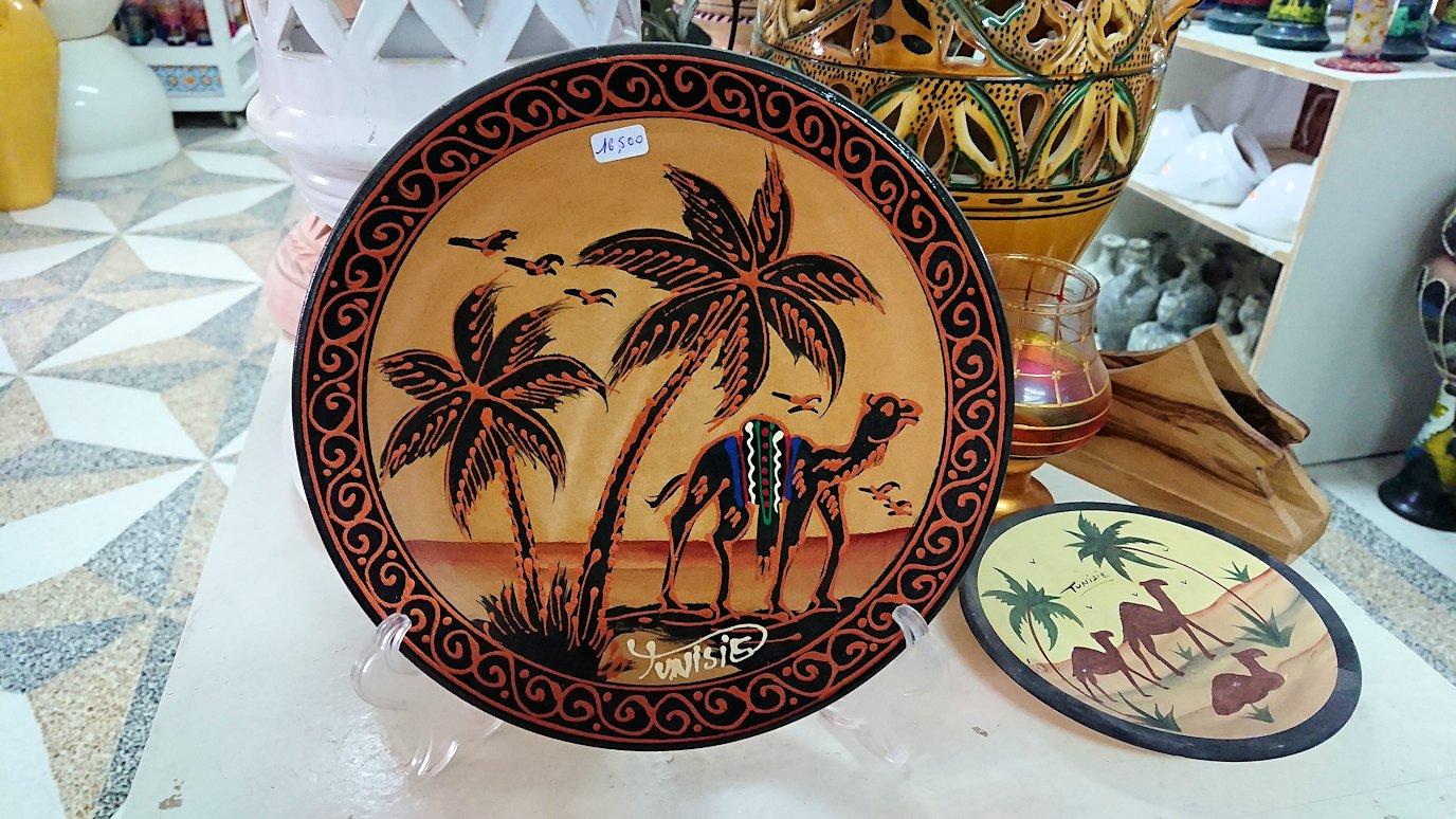 チュニジア:ナブールの街の陶器屋さんを物色3