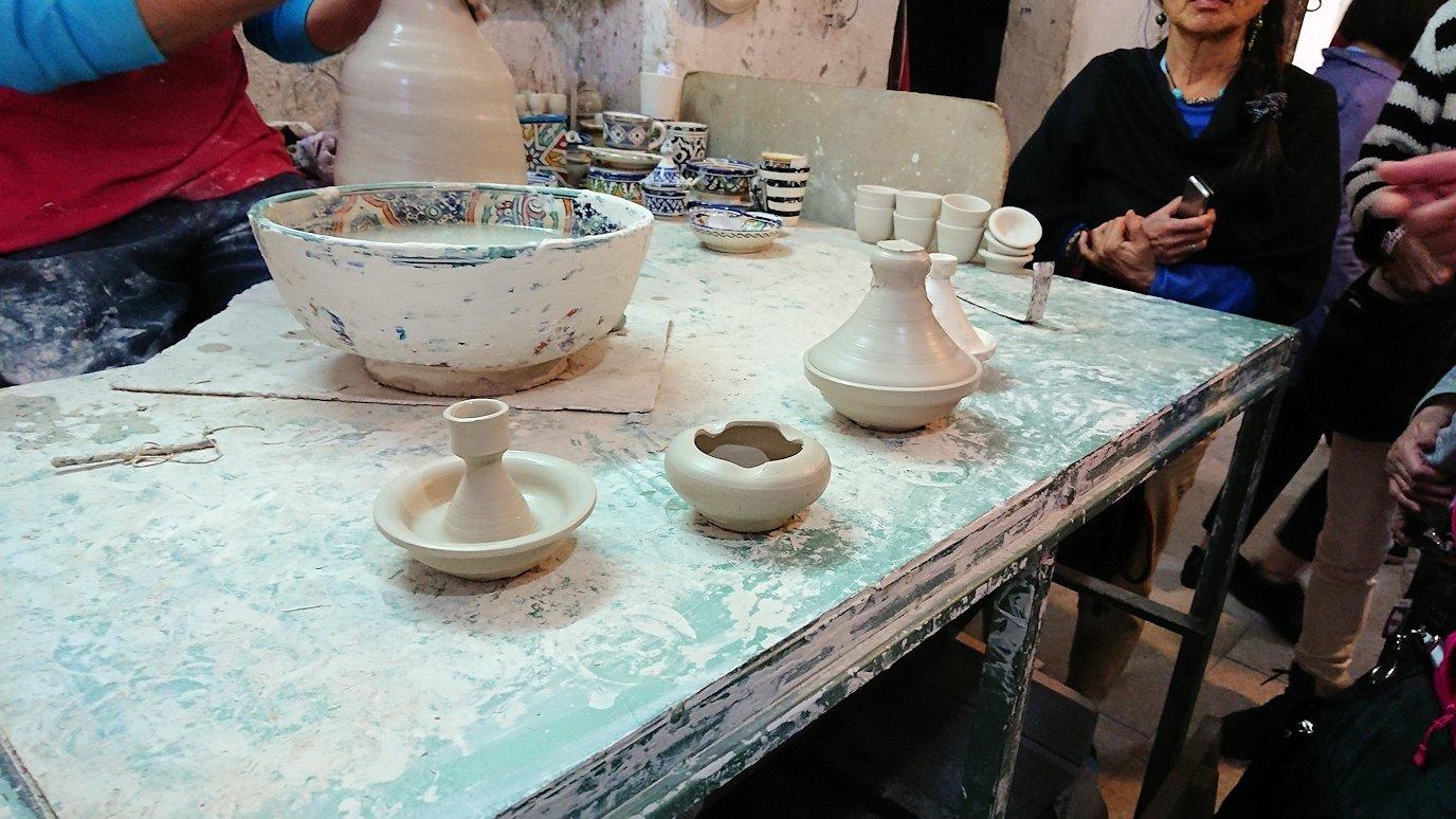 フェズの陶器工場にて2